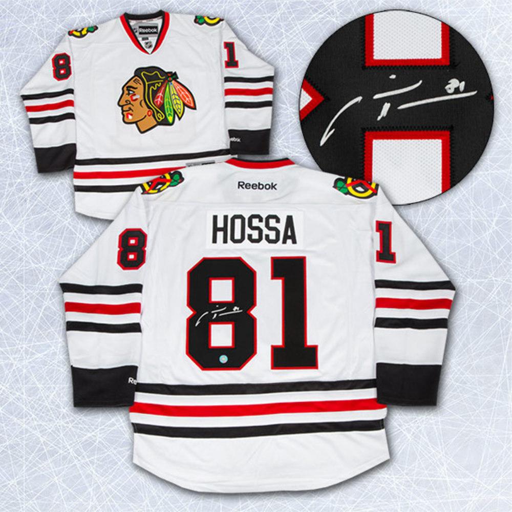 Marian Hossa Chicago Blackhawks Autographed White Reebok Premier Hockey Jersey