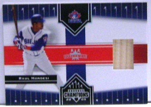 Photo of 2005 Donruss Champions Impressions Material #78 Raul Mondesi Bat T4