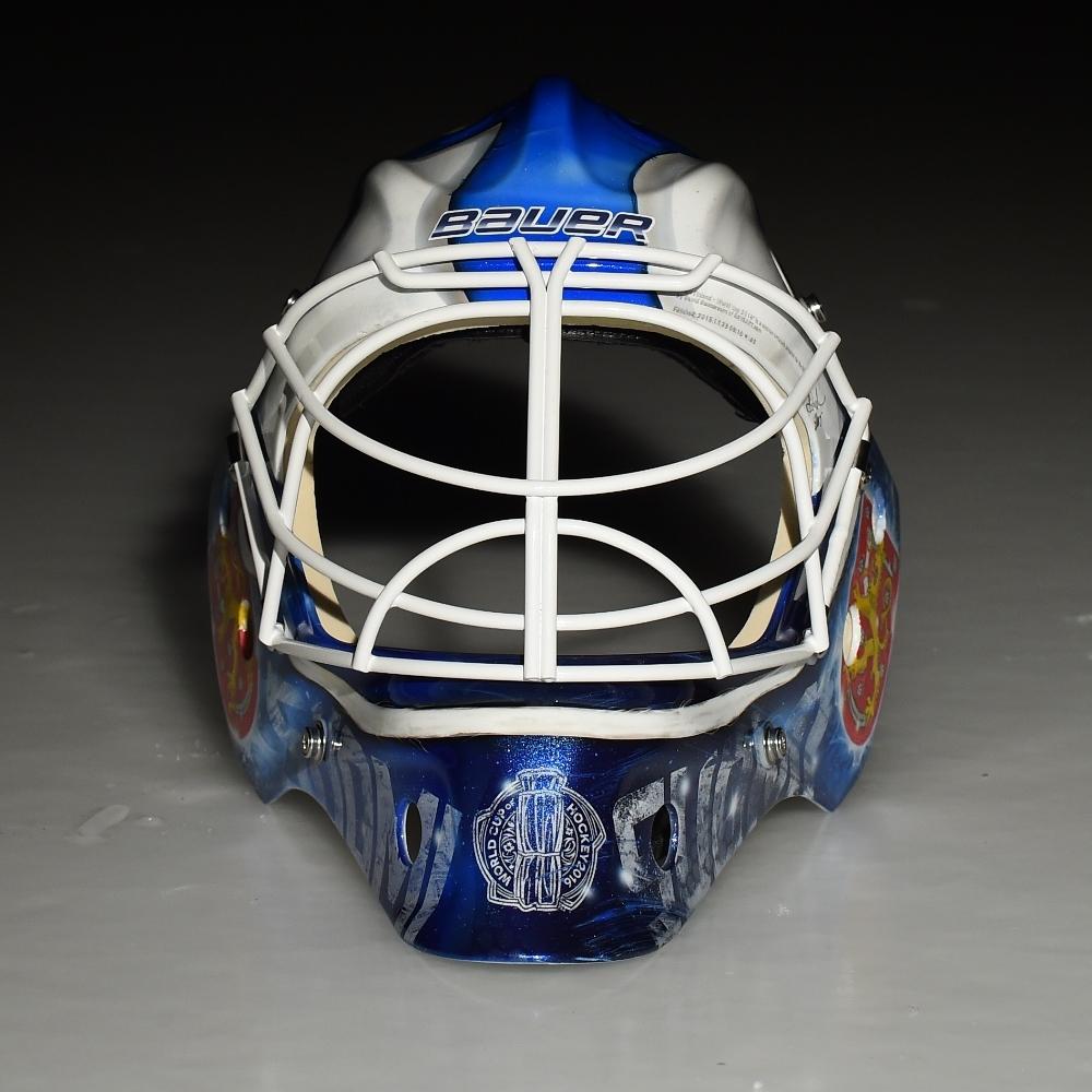 Custom Painted 2016 World Cup Of Hockey Goalie Mask Team Finland