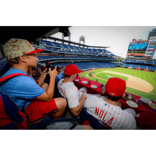 Photo of Video Game Party at Citizens Bank Park on PhanaVision with Phillies Pitchers Hector Neris and Luis Garcia