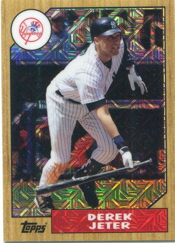 Photo of 2017 Topps '87 Topps Silver Pack Chrome Derek Jeter