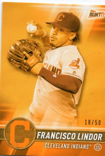 Photo of 2017 Topps Bunt Orange #47 Francisco Lindor 18/50