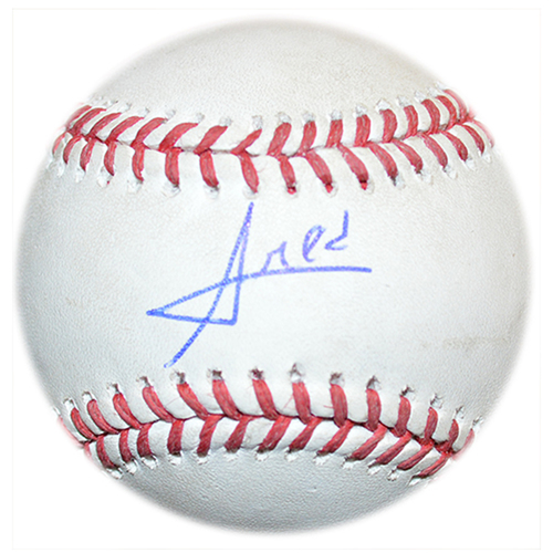 Photo of Amed Rosario #1 - Autographed Game Used Baseball - J.A. Happ to Amed Rosario - 3rd Inning - Mets vs. Blue Jays - 5/16/18