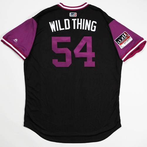 "Photo of Carlos ""Wild Thing"" Estevez Colorado Rockies Team-Issued 2018 Players' Weekend Jersey"