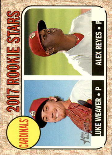 Photo of 2017 Topps Heritage #162A Luke Weaver RC/Alex Reyes RC