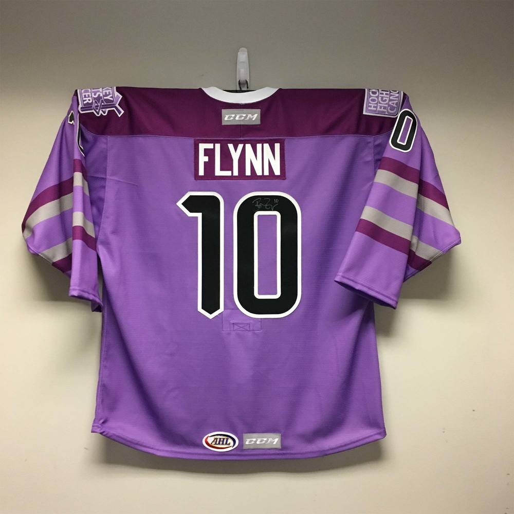 San Antonio Rampage Hockey Fights Cancer™ Jersey Issued to and Signed by #10 Brian Flynn