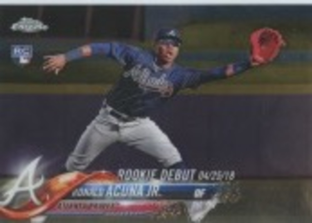 2018 Topps Chrome Update #HMT31 Ronald Acuna Jr. Rookie Debut