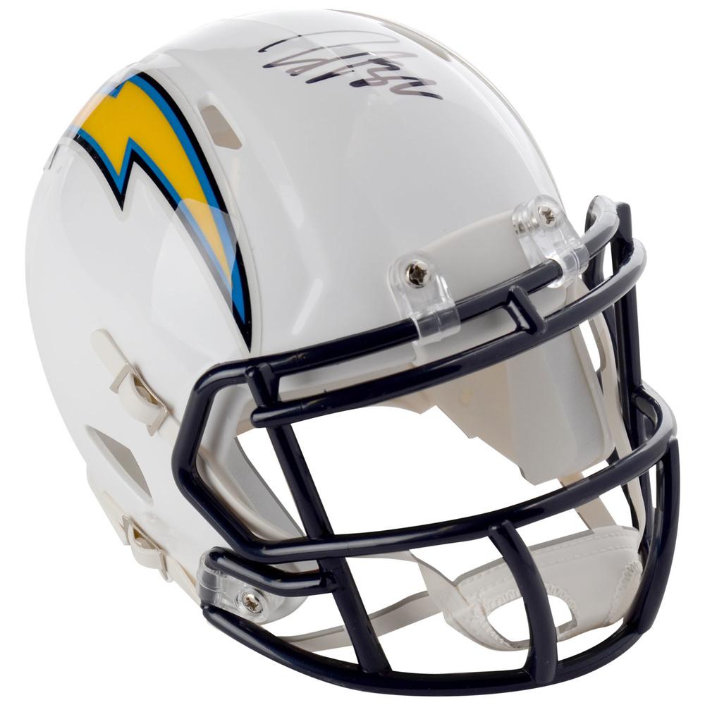 John Gibson Anaheim Ducks Autographed Los Angeles Chargers Mini Helmet