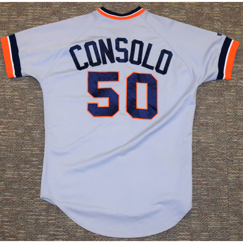Photo of Billy Consolo Detroit Tigers #50 Road Jersey (NOT MLB AUTHENTICATED)