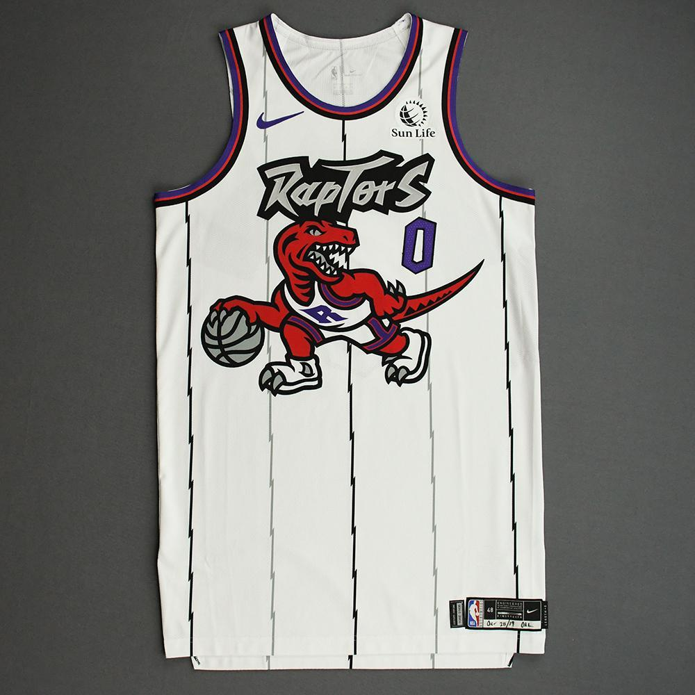 Terence Davis II - Toronto Raptors - Game-Issued Classic Edition 1995-96 Home Jersey - 2019-20 Season