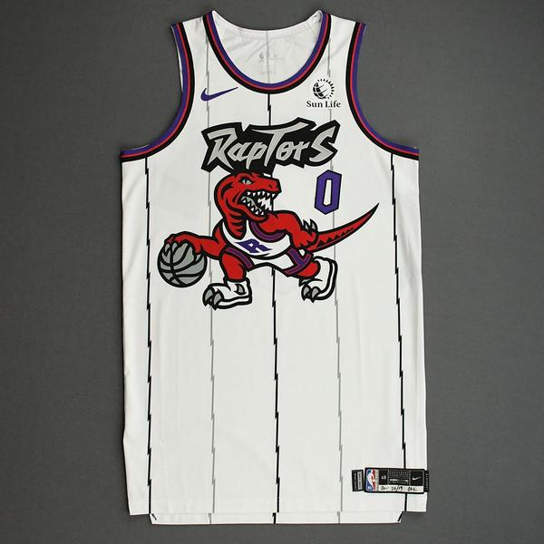 Image of Terence Davis II - Toronto Raptors - Game-Issued Classic Edition 1995-96 Home Jersey - 2019-20 Season