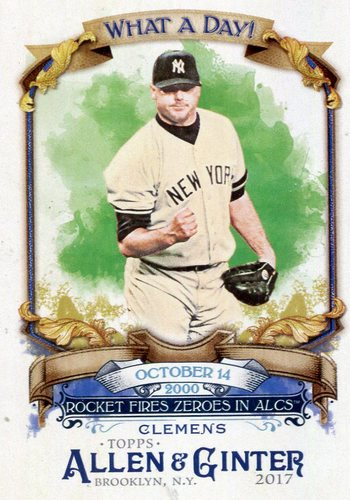 Photo of 2017 Topps Allen and Ginter What a Day #WAD89 Roger Clemens