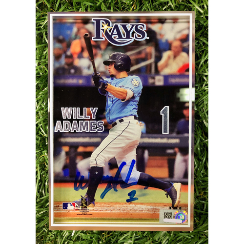 Photo of Rays Baseball Foundation: Autographed 3D Player Block - Willy Adames