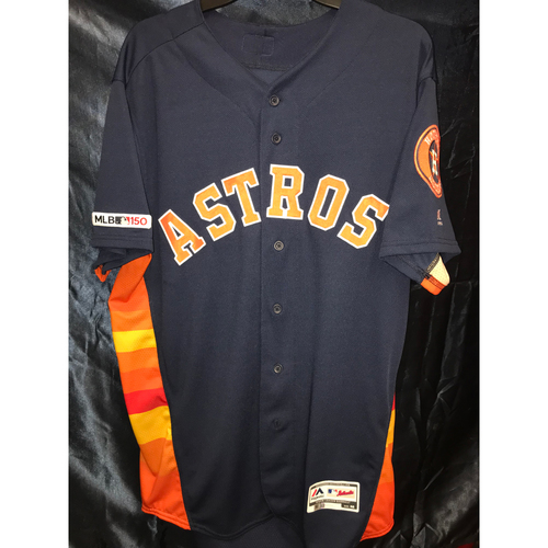 Photo of 2019 Team-Issued Rogelio Armenteros Navy Rainbow Alternate Jersey (Size 46)