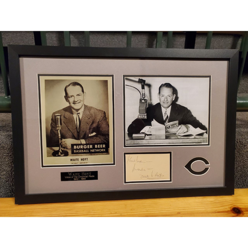 Photo of Waite Hoyt Autographed Frame