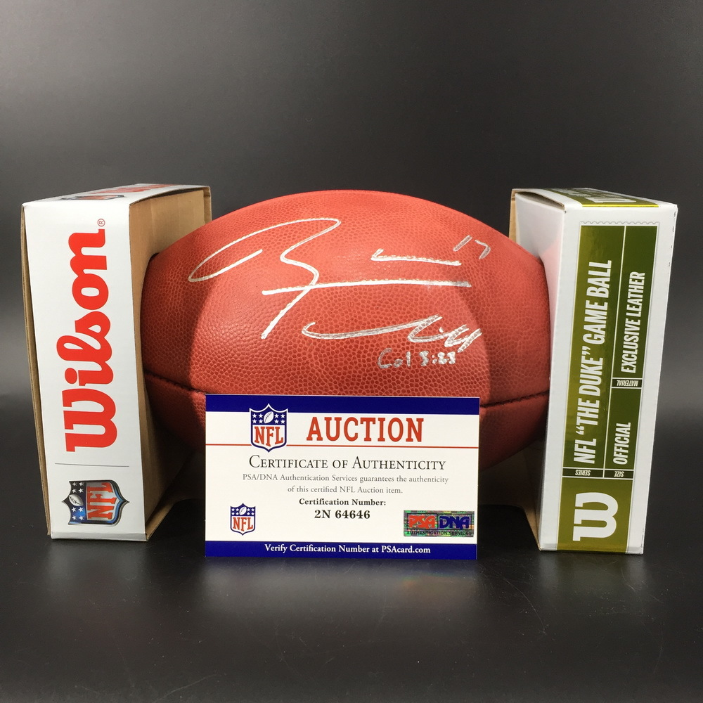 NFL - Titans Ryan Tannehill Signed Authentic Football W/ 100 Seasons Logo