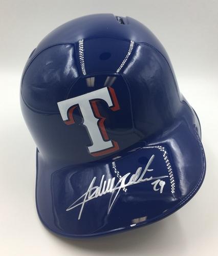 Photo of Adrian Beltre Autographed Rangers Helmet