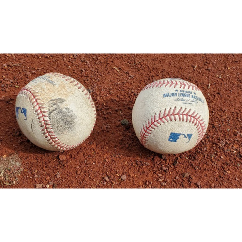 Photo of 2008 NLDS Phillies Game-Used Baseballs - Games 1 & 2