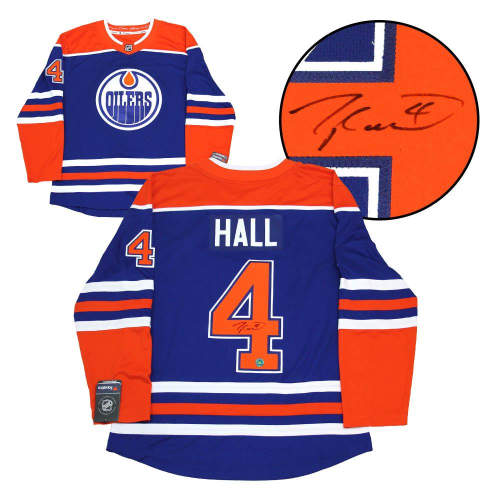 Taylor Hall Edmonton Oilers Autographed Fanatics Alternate Hockey Jersey