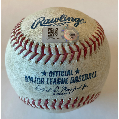 Photo of Kyle Tucker (Single)/Jose Altuve (Foul) Game-Used Ball vs. Jake McGee
