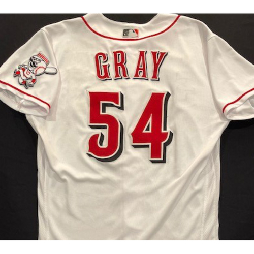 Photo of Sonny Gray -- 2020 Home White Jersey -- Team Issued -- Size 44