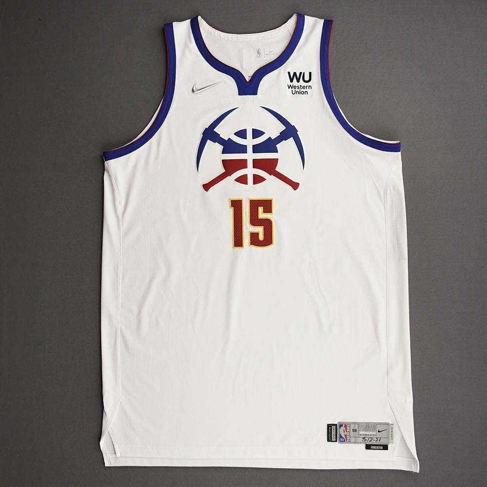 Nikola Jokic - Denver Nuggets - Game-Worn Earned Edition Jersey - Recorded a Double-Double - 2020-21 NBA Season