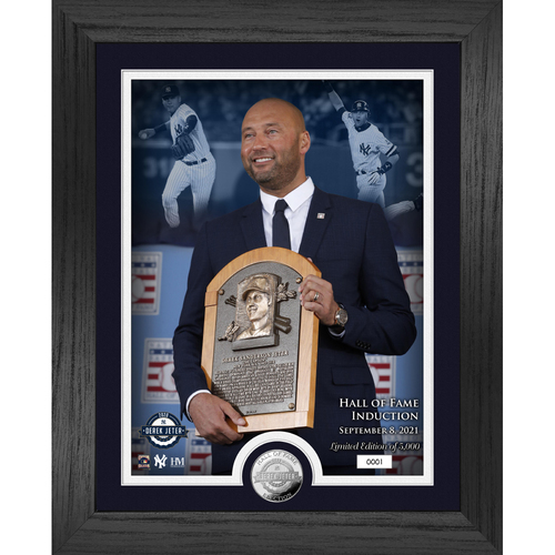 Photo of Derek Jeter Induction Day Silver Coin Photo Mint LE #1