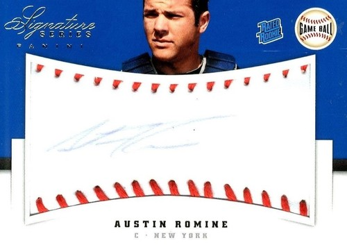 Photo of 2012 Panini Signature Series Rookies Game Ball Signatures #104 Austin Romine