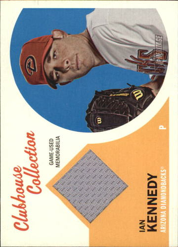 Photo of 2012 Topps Heritage Clubhouse Collection Relics #IK1 Ian Kennedy