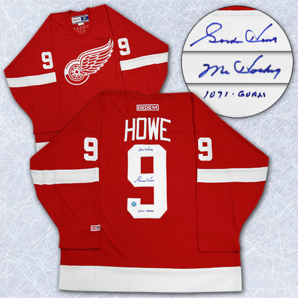 Gordie Howe Detroit Red Wings Autographed CCM Retro Jersey W 1071 Goals Note