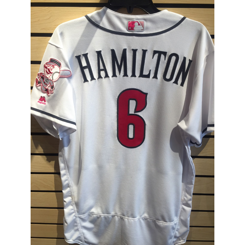 Billy Hamilton Game-Used Mother's Day Jersey | MLB Auctions