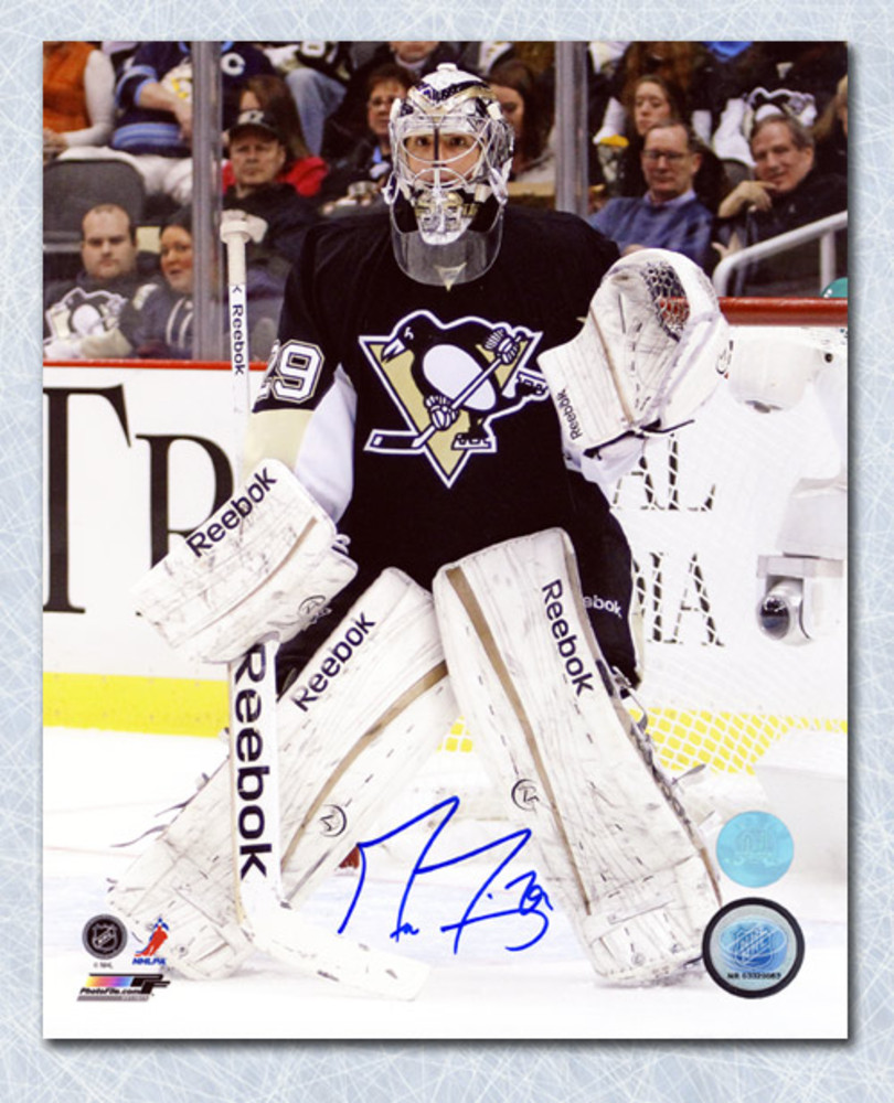 Marc-Andre Fleury Pittsburgh Penguins Autographed Hockey Goalie 8x10 Photo