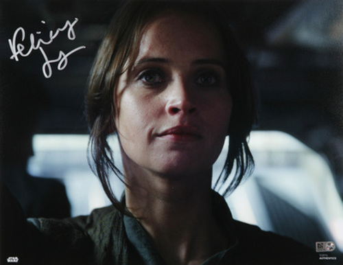 Felicity Jones as Jyn Erso Autographed in Silver Ink 11x14 Photo