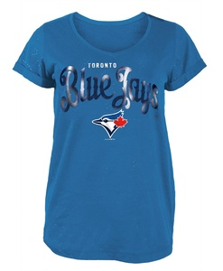 Toronto Blue Jays Women's Glitter V-Neck T-Shirt by 5th & Ocean