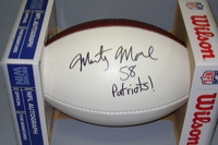 NFL - PATRIOTS MARTY MOORE SIGNED PANEL BALL