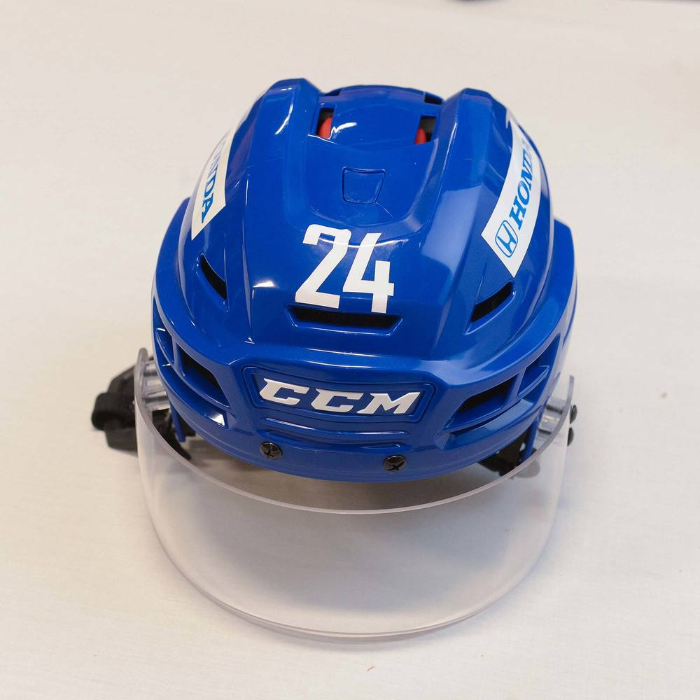 2018 AHL All-Star Challenge Helmet Worn and Signed by #24 Reid Boucher