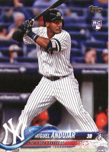 Photo of 2018 Topps #305 Miguel Andujar Rookie Card