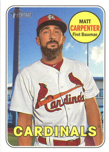 Photo of 2018 Topps Heritage #18 Matt Carpenter