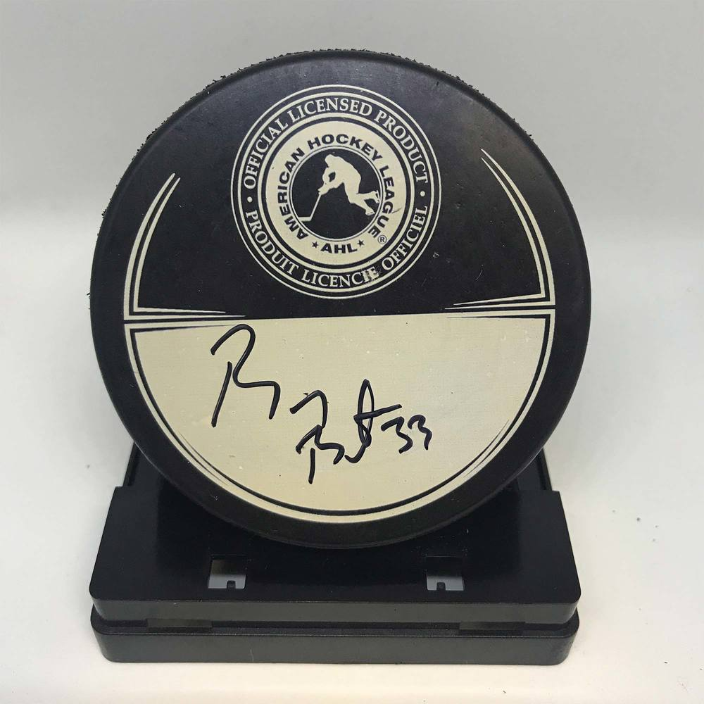 2013 Dunkin' Donuts AHL All-Star Classic Souvenir Puck Signed by #33 Barry Brust