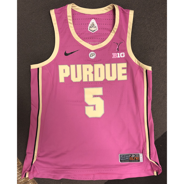 Photo of Purdue Women's Basketball 2018-19 Commemorative Cancer Awareness Pink Jersey #5 / Size 46