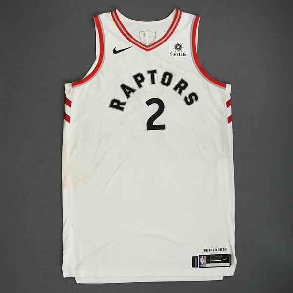 3c376fcf13e Kawhi Leonard - Toronto Raptors - 2019 NBA Finals - Game 1 - Game-Worn  White Association Edition Jersey - Scored 23 Points