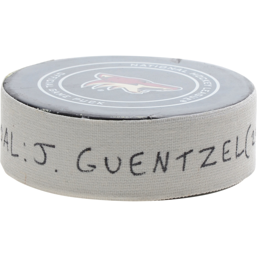 Jake Guentzel Pittsburgh Penguins Game-Used Goal Puck from January 18, 2019 @ Arizona Coyotes