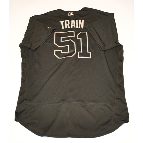 "Photo of Carl ""TRAIN"" Willis Cleveland Indians Game-Used 2019 Players' Weekend Jersey"