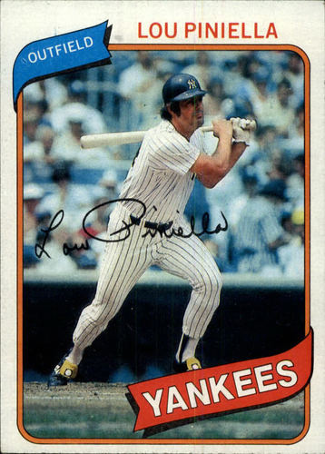 Photo of 1980 Topps #225 Lou Piniella