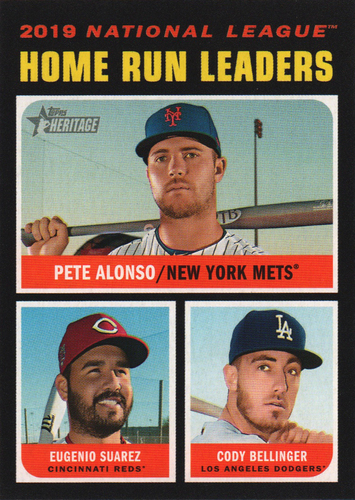 Photo of 2020 Topps Heritage #66 Eugenio Suarez/Cody Bellinger/Pete Alonso LL