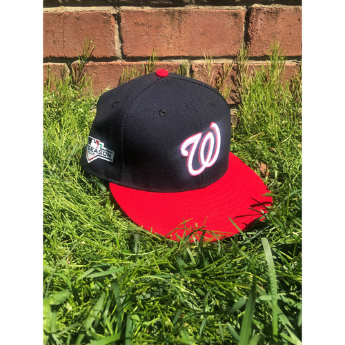 Photo of Erick Fedde Team-Issued Cap with Postseason Patch