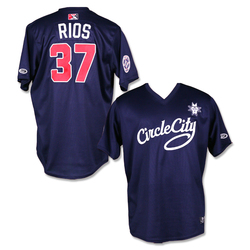 Photo of #37 Yacksel Rios Autographed Game Worn Circle City Jersey