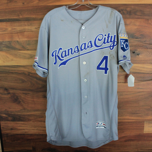 Photo of Game-Used Jersey: Alex Gordon (KC @ DET 8/8/19)