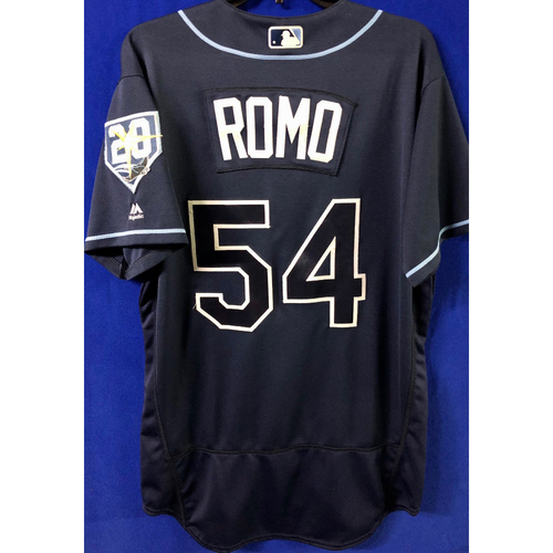 Photo of Game Used Jersey: Sergio Romo (S, 1.0IP, 3 SO) - 25th Save of the Season - September 29, 2018 v TOR
