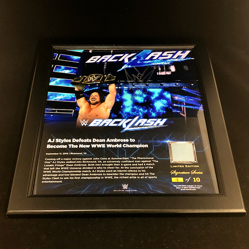 Photo of AJ Styles SIGNED Backlash 2016 Signature Series Frame